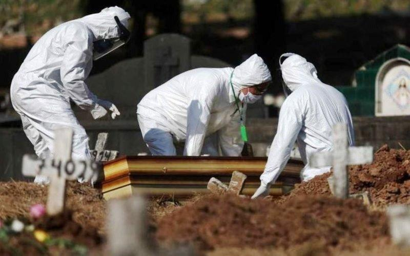 Brasil fecha domingo com  57,6 mil mortes e 1,34 milhão de casos