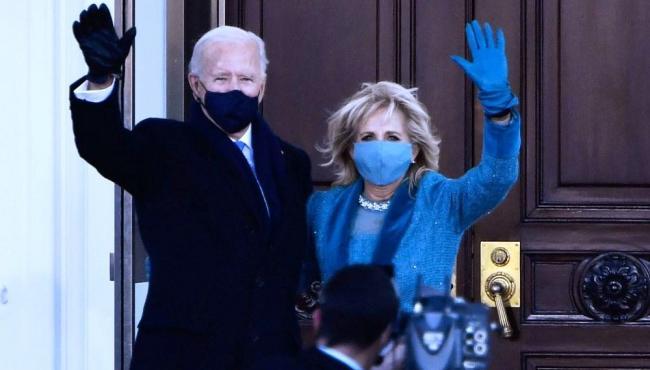 Biden chega à Casa Branca após posse no Capitólio