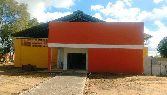 Galpão para Cooperativa de Costureiras na reta final de construção, em Boa Esperança
