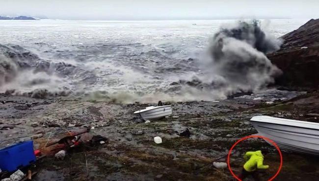 Pescadores fogem de 'mega-tsunami' na Groenlândia
