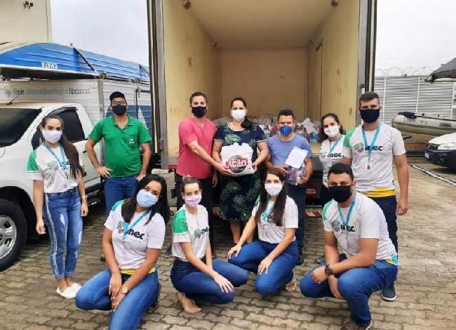 Prefeitura de Boa Esperança recebe doação de cestas básicas do Inec